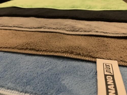 Nanodoeken origineel kleuren zwart, beige, grijs, blauw.