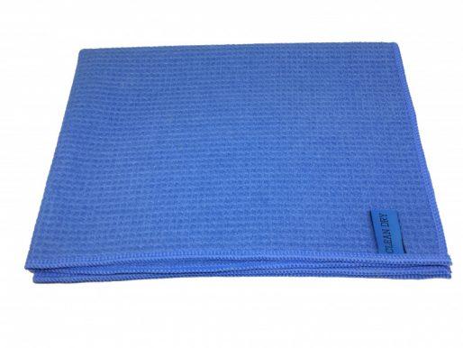 Streeploos drogen met de Clean dry droogdoek blauw.