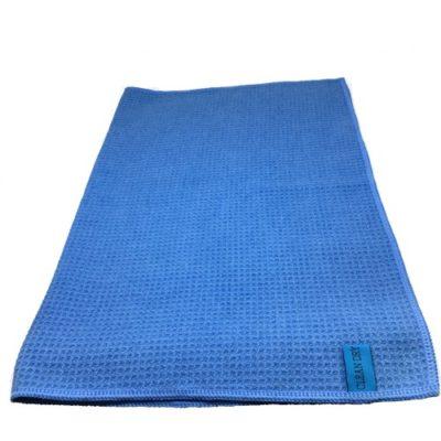 droogdoek met wafelstructuur blauw. Clean Dry origineel.