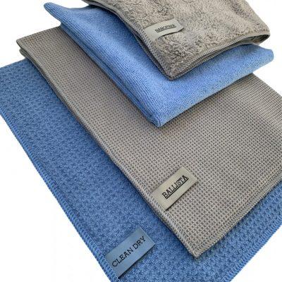 Droogdoeken set Clean dry origineel met Ballista d5 m45 en fanatic met nanofiber.