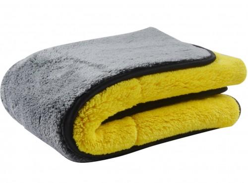 Autodroogdoek geel grijs