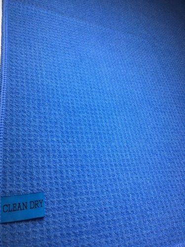 Droogdoek blauw schoonmaakdoek (streeploos zemen drogen ramen lappen )