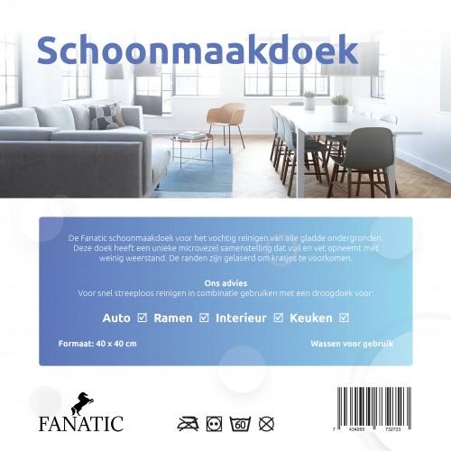 Schoonmaakdoek blauw Fanatic Pro 2019 microvezel klasse 1 Nanodoekjes.nl