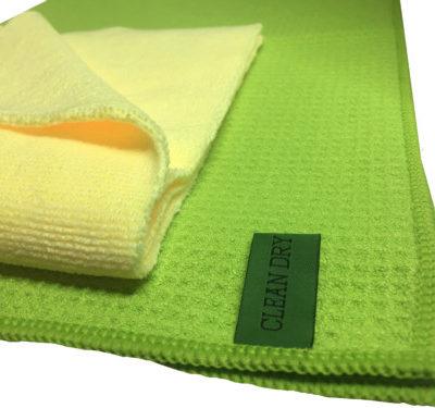 Ramendoek set groen/geel